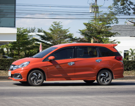 CHIANG MAI, THAILAND -DECEMBER 4 2017: Private Honda Mobilio van. Photo at road no.121 about 8 km from downtown Chiangmai, thailand.
