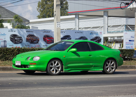 CHIANG MAI, THAILAND -DECEMBER 12 2017: Private car, Toyota Celica. Photo at road no 121 about 8 km from downtown Chiangmai, thailand. Editorial