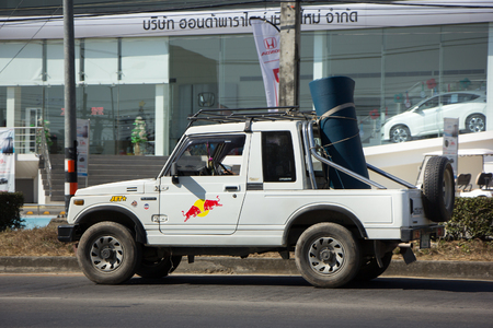 CHIANG MAI, THAILAND -DECEMBER 24 2017: Private car, Suzuki Caribian. Photo at road no.1001 about 8 km from downtown Chiangmai, thailand.