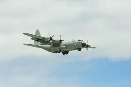 CHIANGMAI , THAILAND- JUNE 9 2009: 60101 C-130 of Royal Thai Air force. Landing to Chiangmai Airport.