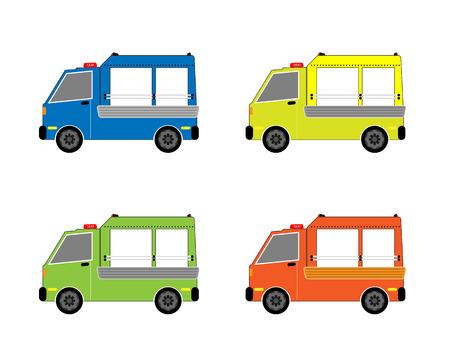 Vehicle set on white background