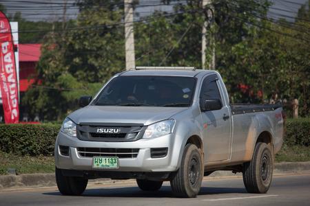 CHIANG MAI, THAILAND -JANUARY 9 2018: Private Isuzu Dmax Pickup Truck. On road no.1001 8 km from Chiangmai city.