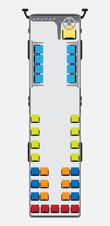 Seat map of metro or city bus vector and illustration