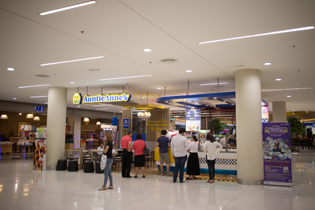 CHIANG MAI, THAILAND - FEBRUARY 20 2018: Auntie Anne's shop. America Food Product. Photo in Central Festival chiang mai.