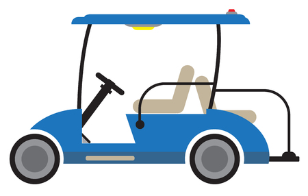 Side  View of Golf cart Vector and illustration