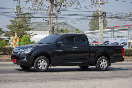 CHIANG MAI, THAILAND -FEBRUARY 8 2018: Private Isuzu Dmax Pickup Truck. On road no.1001 8 km from Chiangmai city.