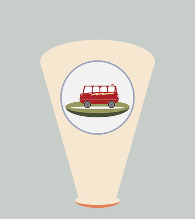 Bus image design illustration