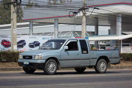 CHIANG MAI, THAILAND -FEBRUARY 27 2018: Private Isuzu TFR Pickup Truck. On road no.1001 8 km from Chiangmai city.