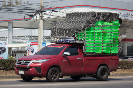 CHIANG MAI, THAILAND -FEBRUARY 27 2018: Private Pickup Truck Car Toyota Hilux Revo. On road no.1001, 8 km from Chiangmai city.