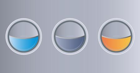 Half Close of Airplane  Windows  Vector and  illustration Ilustração