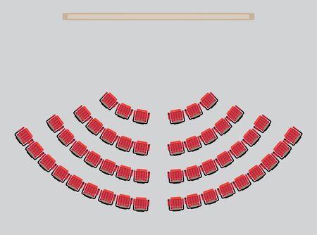 トップビューは劇場ベクトルとイラストの座席を示しています  イラスト・ベクター素材