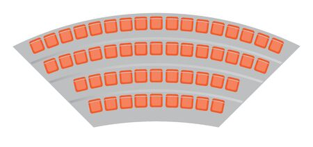 Top View show of Seats map at the football stadium