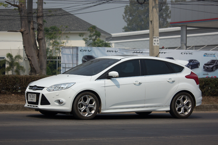 CHIANG MAI, THAILAND -MARCH 6 2018: Private car, Ford Focus. Photo at road no 121 about 8 km from downtown Chiangmai, thailand.