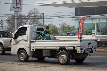 CHIANG MAI, THAILAND -MARCH 6 2018: Private Tata SuperACE City Giant Mini truck. On road no.1001 8 km from Chiangmai city. Editoriali