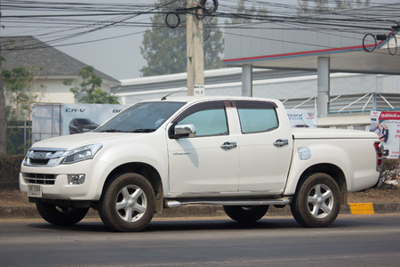 CHIANG MAI, THAILAND -MARCH 6 2018:  Private Isuzu Dmax Pickup Truck. On road no.1001 8 km from Chiangmai city. Editorial