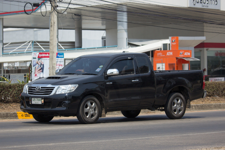 CHIANG MAI, THAILAND -MARCH 13 2018: Private Toyota Hilux Vigo  Pickup Truck.  On road no.1001 8 km from Chiangmai city. Editorial