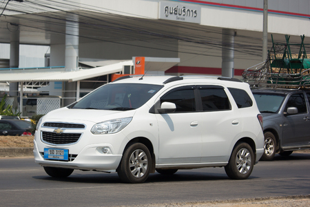CHIANG MAI, THAILAND -MARCH 15 2018:   Private MPV car, Chevrolet Spin. Photo at road no 121 about 8 km from downtown Chiangmai, thailand.