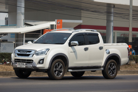 CHIANG MAI, THAILAND -MARCH 15 2018: Private Isuzu Dmax Pickup Truck. On road no.1001 8 km from Chiangmai city. Editorial