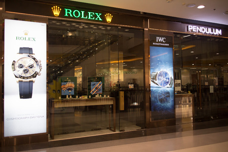 CHIANG MAI, THAILAND - APRIL 16 2018: Rolex Shop. Shop inside Central Festival Chiangmai. Modern Business Plaza in Chiangmai. Editorial