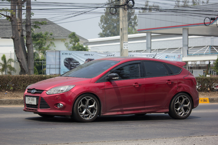 CHIANG MAI, THAILAND -MARCH 22 2018: Private car, Ford Focus. Photo at road no 121 about 8 km from downtown Chiangmai, thailand.