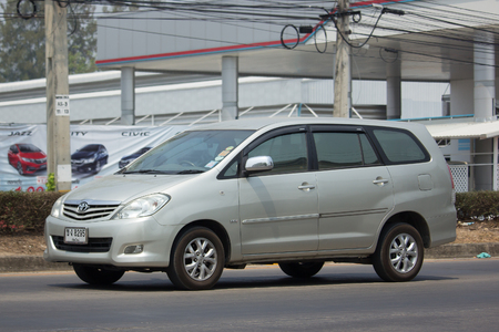 CHIANG MAI, THAILAND -MARCH 22 2018: Private MPV Car, Toyota Innova.  On road no.1001, 8 km from Chiangmai Business Area.