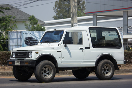 CHIANG MAI, THAILAND -MARCH 27 2018: Private car, Suzuki Caribian. Photo at road no.1001 about 8 km from downtown Chiangmai, thailand.