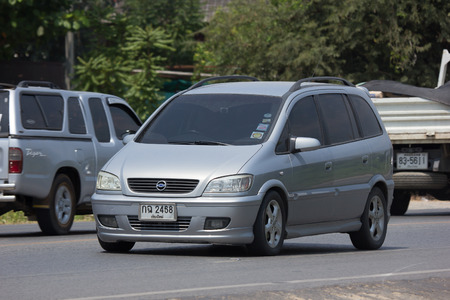 CHIANG MAI, THAILAND - APRIL  3 2018: Private SUV car, Chevrolet Zafira. Photo at road no.121 about 8 km from downtown Chiangmai, thailand.