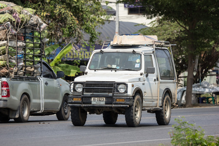 CHIANG MAI, THAILAND - APRIL 8 2018: Private car, Suzuki Caribian. Photo at road no.1001 about 8 km from downtown Chiangmai, thailand.