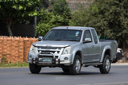 CHIANG MAI, THAILAND - APRIL 8 2018:  Private Isuzu Dmax Pickup Truck. On road no.1001 8 km from Chiangmai city.