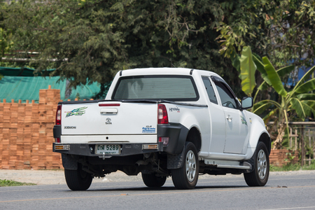 CHIANG MAI, THAILAND - APRIL 20 2018:  Private Tata Xenon  Pickup truck. Photo at road no 121 about 8 km from downtown Chiangmai, thailand. Editoriali