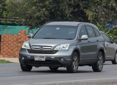 CHIANG MAI, THAILAND - APRIL 24 2018: Private Car Honda CRV City Suv Car. On road no.1001 8 km from Chiangmai city.