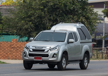 CHIANG MAI, THAILAND - APRIL 24 2018: Private Isuzu Dmax Pickup Truck. On road no.1001 8 km from Chiangmai city.