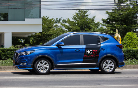 CHIANG MAI, THAILAND - MAY 18 2018: Private Suv Car MG ZS. Product from British automotive. On road no.1001, 8 km from Chiangmai city.