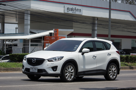 CHIANG MAI, THAILAND - MAY 10 2018: Private car, Mazda CX-5,cx5. On road no.1001, 8 km from Chiangmai Business Area. Editorial
