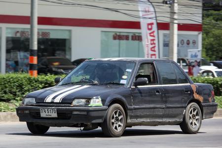 CHIANG MAI, THAILAND - MAY 18 2018: Private Sedan Car from Honda Automobil, Honda Civic. On road no.1001 8 km from Chiangmai Business Area.