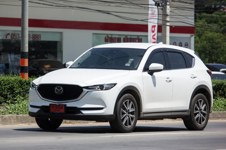 CHIANG MAI, THAILAND - MAY 18 2018: Private car, Mazda CX-5,cx5. On road no.1001, 8 km from Chiangmai Business Area. Editorial