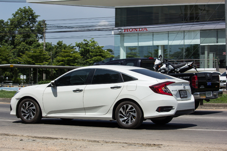 CHIANG MAI, THAILAND - MAY 18 2018:  Private Sedan Car from Honda Automobil,Tenth generation Honda Civic. On road no.1001 8 km from Chiangmai Business Area.