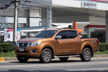 CHIANG MAI, THAILAND - MAY 21 2018: Private Pickup car, Nissan Navara. On road no.1001, 8 km from Chiangmai Business Area. Editorial