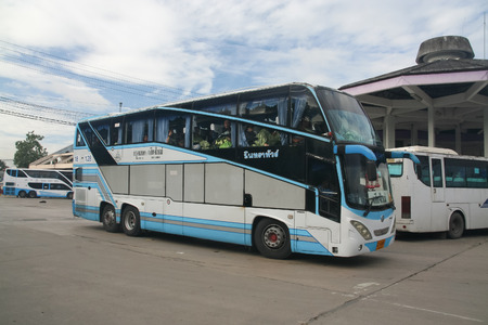 CHIANG MAI, THAILAND - SEPTEMBER 8 2011:  Bus of Intratour. Photo at Chiangmai bus station, thailand.