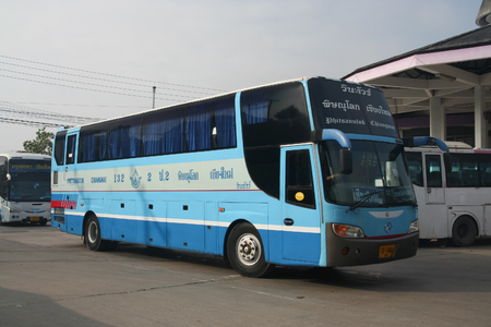 CHIANG MAI, THAILAND - OCTOBER 15 2011:  Vintour company bus. Route Phitsanulok and Chiangmai. Photo at Chiangmai bus station. Redactioneel