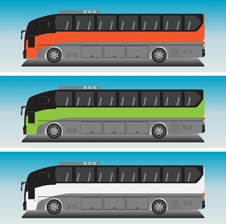 12 Meter Bus Vector in Blue sky Bacground