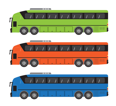 Quad axle coach or 10 Wheel Bus Vector and Illustration