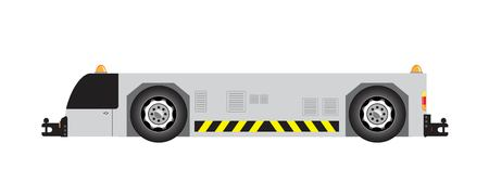 Airport tow truck vector