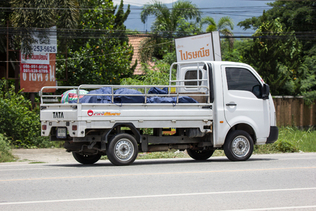 Chiangmai, Thailand - July  13 2018: Private Tata SuperACE City Giant Mini truck. On road no.1001 8 km from Chiangmai city. Editoriali