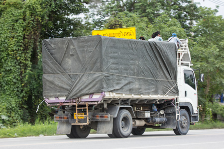 Chiangmai, Thailand - June 28 2018: Private  Isuzu  Cargo Truck. Photo at road no.1001 about 8 km from downtown Chiangmai, thailand. Editorial
