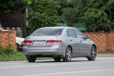 Chiangmai, Thailand - June 28 2018: Private car Honda accord. On road no.1001 8 km from Chiangmai Business Area. Redakční