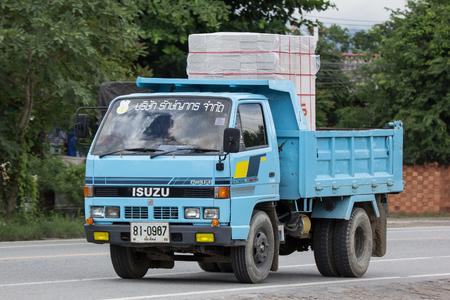 Chiangmai, Thailand - June 28 2018: Private Isuzu Dump Truck. On road no.1001 8 km from Chiangmai Business Area.