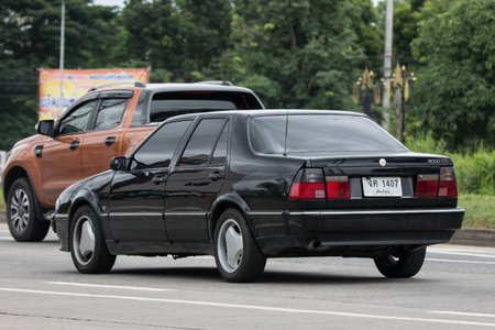 Chiangmai, Thailand - July  20 2018: Private Old Car, Saab 9000 CD Compact luxury automobile. Photo On Road 1001 to Chiangmai City. 写真素材 - 107274705