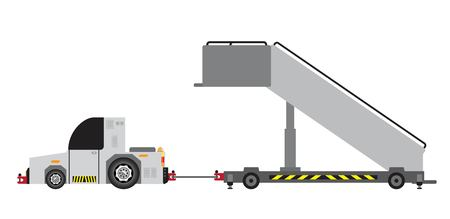 No Engine Airport stair truck Vector and illustration Illustration