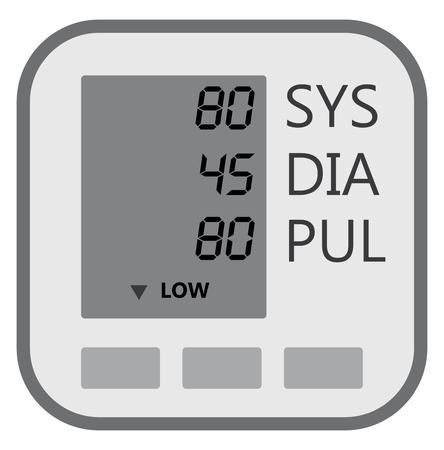 Display Lcd Of Blood Pressure Machine Show Indicator Of Result